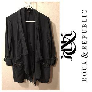 Rock & Republic faded black open light jacket